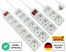 Steckdosenleiste Steckerleiste Mehrfachsteckdose Strom 3-fach 6-fach 1,5m 3m 5m