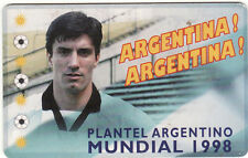 FOOTBALL PHONECARD ORTEGA 1998 PLAYER  FROM TELEFONICA ARGENTINA