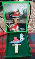Vintage Hallmark Christmas Old Fashioned Rocking Horse Stocking Hanger w/  box