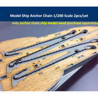 Model Ship Anchor Chain 1/200 Scale 2pcs/set CY20003