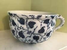 Vintage Leipsic Dale Hall England ceramic vintage blue and white chamber pot