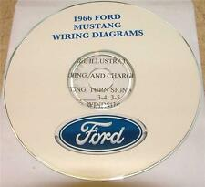 1966 FORD MUSTANG WIRING DIAGRAM MANUAL ON CD