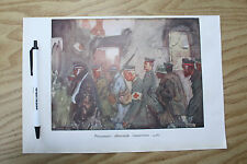WW1 GERMAN PRISONERS   PLATE FROM ORIGINAL WWI PUBLICATION