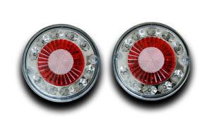 2 x 12V 19 LED TAIL LAMPS HAMBURGER REAR LIGHTS TRUCK LORRY TIPPER CARAVAN VAN