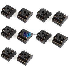10pcs Pf113a 11 Pin 11p Din Rail Mount Relay Socket Base For Jtx 3ckd