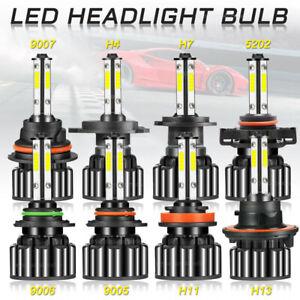4Side LED Headlight Bulb H4 H7 H11 H13 9004 9005 9006 9007 9012 5202 6000K White