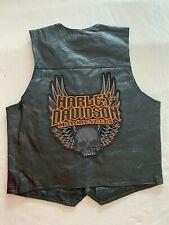 Roberto Amee Designer Collection Mens Genuine Leather Vest Harley-Davidson