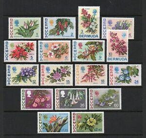 Bermuda - SG#249 - 265 MNH   / Flowers    -    Lot 0721019