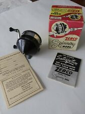 Vintage Zebco Spinner Model #33 Fishing Reel-Made in Usa-Tulsa Okla. with Box