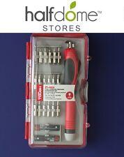 Hyper Tough HT 3V Cordless Precision Screwdriver Set 21 Precision Bits LED Light