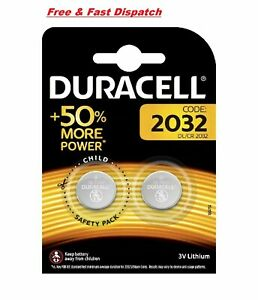 Duracell CR2032 3v LITHIUM Coin Cell Batteries (pack of 2) DL2032 Original