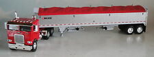 WHITE FREIGHTLINER RED COE PEWTER WILSON GRAIN RED TARP TRAILER 1/64 DCP 33617