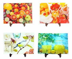 Glas Schneidebrett Tranchierbrett Schneidbrett 20x30 25x35 30x40 Frucht Motive