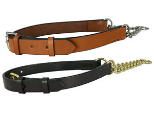 LEATHER HALF CHOKE, CHECK, DOG COLLARS, ASSORTED SIZES, BRASS, STAINLESS STEEL
