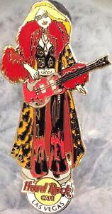 Hard Rock Cafe LAS VEGAS 2003 Sexy HR BARBIE DOLL Girl Playing Guitar PIN #19742