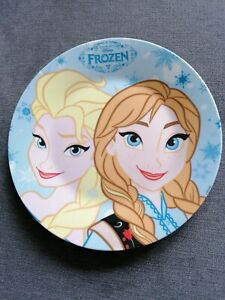 Disney FROZEN Plate with faces of Elsa and Anna