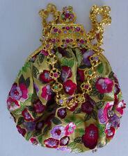 Clara Kasavina Handmade Collectable Small Bag Handbag Purse Flowers NEW