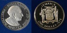 1978 Jamaica Large  Proof $1 Bustamante
