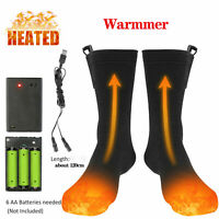 New Electric Heated Socks Men Women Skiing Heated Sock For Camping Hiking