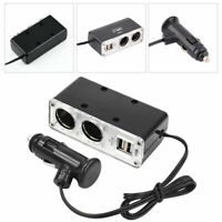 2 Way Car Cigarette Lighter Power Socket Adapter Plug Dual USB Twin Port Charger