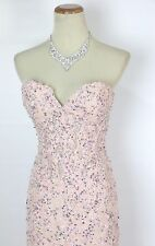 New Authentic Jovani 93586 Pink Strapless Pageant Women Formal Gown Dress 4