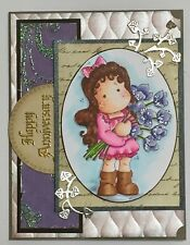 Anniversary - Magnolia Tilda with flowers - handmade card by DEE