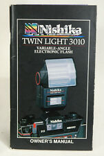 Nishika 35mm Film Twin Light 30130 Electronic Flash Unit Owners Manual Only