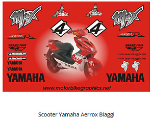 Scooter Yamaha Aerrox Biaggi  full decal set