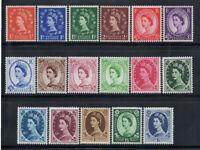 Großbritannien 1952 Mi. 257-273X Ungebraucht * 100% Königin Elisabeth II.