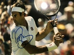 ROGER FEDERER signed 8 x 10 GREATEST OF ALL TIME