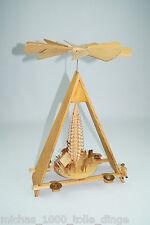 schöne alte Holz Pyramide Holzfigur Weihnachten Deko Schmuck 47cm