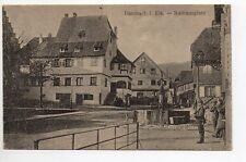 DAMBACH Bas Rhin Alsace CPA 67 rathausplatz fontaine soldat