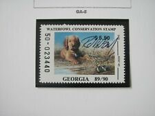 F3036 GA 1989 DUCKLING/GOLDEN RETRIEVER SBA R.J. McDONALD SN: 50-023440 STAMP