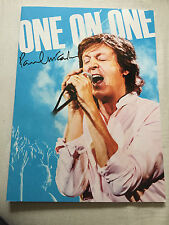 "PAUL MCCARTNEY ""ONE ON ONE"" MAGNIFIQUE PROGRAMME / TOUR BOOK NEW TOURNEE 2016"