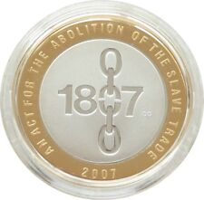 2007 Abolition of the Slave Trade Piedfort £2 Two Pound Silver Proof Coin