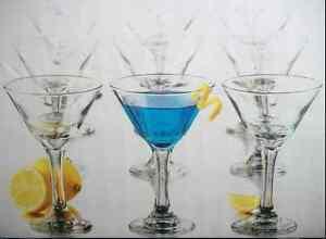 12 Martini Glass Libbey 7.5 oz