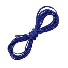 1 mm Azul Real hilo encerado poliester plana Puntilla macramé/Cable 1 metros (D54/1)