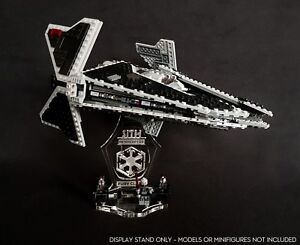 Display stand 3D angled +slots for Lego 9500 Sith Interceptor (Star Wars)