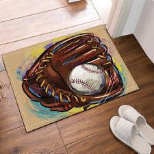 Door Mat Bathroom Rug Bedtoom Carpet Bath Mats Non-Slip Painted Baseball glove