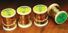 GOLD/SILVER MYLAR 4 SPOOL COMBO - Fly tying ribs bodies