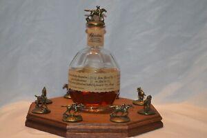 Illuminated Blanton's Bourbon Cork Stopper Display Octagon Oak , Blantons