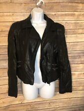 Forever 21 Diagonal Zip Black Jacket, Size M