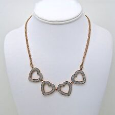 Adami and Martucci Silver Mesh Heart Necklace