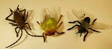 """Insect Toy Figure Lot Fly Beetle Cockroach 2-3"""" Pvc Rubber New lot"""