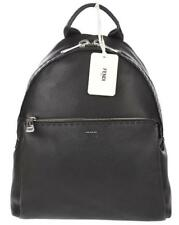 NEW FENDI ROMA BLACK ROMAN LEATHER SELLERIA BACKPACK BAG HANDMADE IN ITALY 9e88011b8ee44