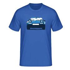 """T-Shirt """"Mazda MX-5 Miata (NA)"""", blau / dreifarbiger Print, vorne"""