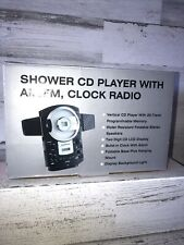 Vertical Shower Cd Player with Am/Fm Clock Radio Cd161 Distributed J.C. Penny