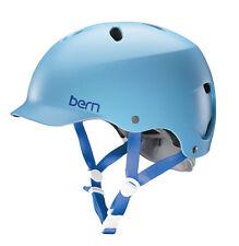 """Bern Lenox EPS Visor Fahrradhelm, Damen Helm Visor """"XS""""  52,5-55cm Baby Blau"""