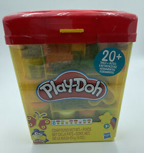 Hasbro Play-Doh 20+ Piece Tool Set Carrying Case Container Storage