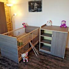 Chambre de Bébé Complet Lot Lit Bébé 70x140 Convertible Brauncafe Commode Neuf